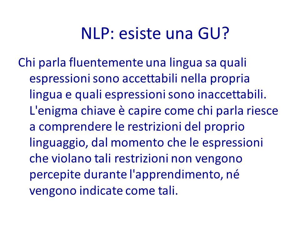 Chi parla fluentemente una lingua sa quali espressioni sono accettabili nella propria lingua e quali espressioni sono inaccettabili.