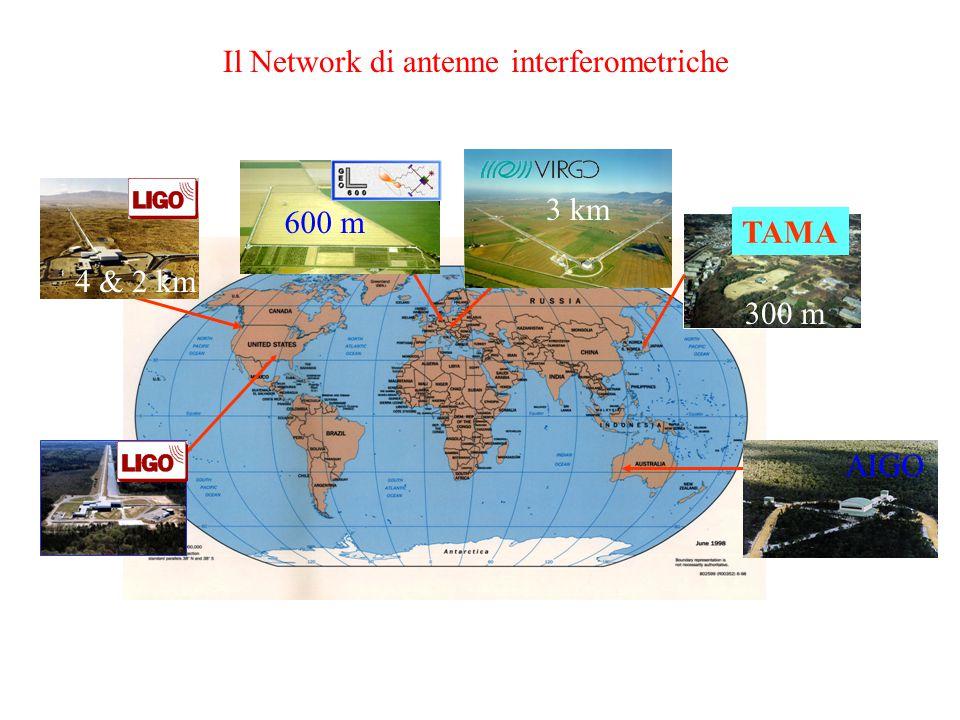 Il Network di antenne interferometriche TAMA 600 m 300 m 4 & 2 km AIGO 3 km
