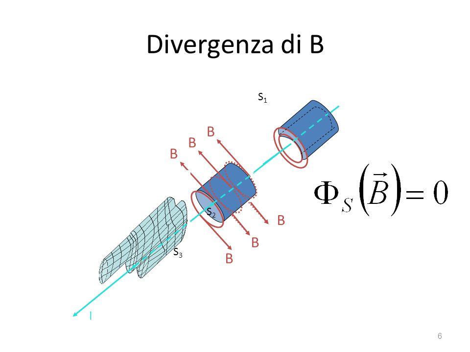 Divergenza di B 6 I B B B B B B S2S2 I S3S3 S1S1