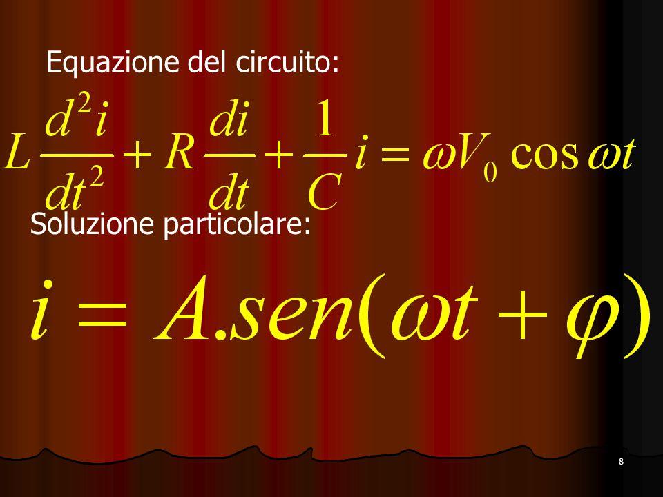 8 Equazione del circuito: Soluzione particolare:
