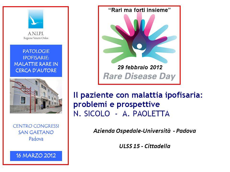 Azienda Ospedale-Università - Padova ULSS 15 - Cittadella 29 febbraio 2012 Rari ma forti insieme