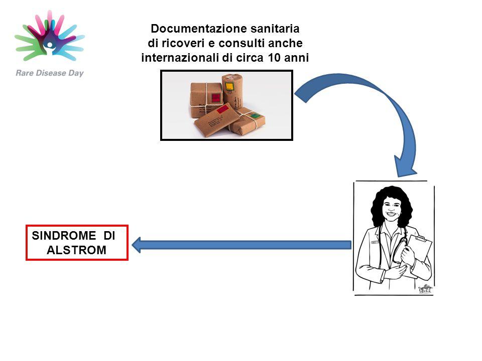 SINDROME DI ALSTROM Documentazione sanitaria di ricoveri e consulti anche internazionali di circa 10 anni