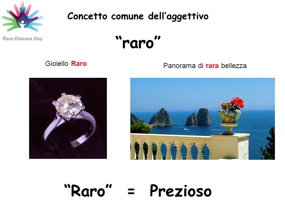 Concetto comune dell'aggettivo raro Gioiello Raro Panorama di rara bellezza Raro = Prezioso