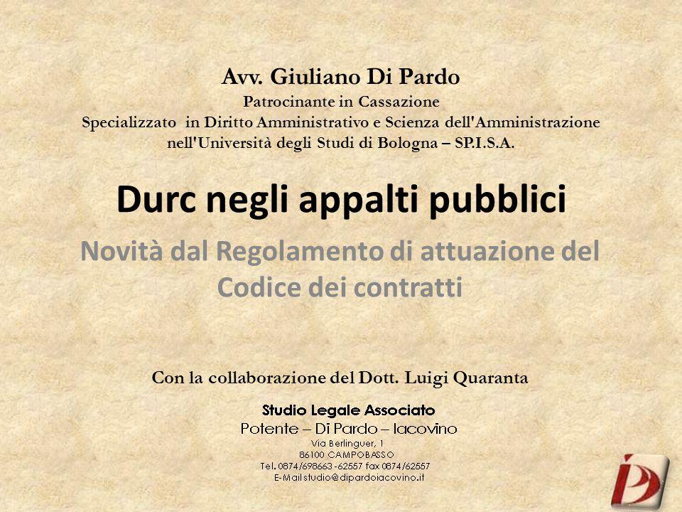 Avv. Giuliano Di Pardo Patrocinante in Cassazione Specializzato in Diritto Amministrativo e Scienza dell'Amministrazione nell'Università degli Studi d