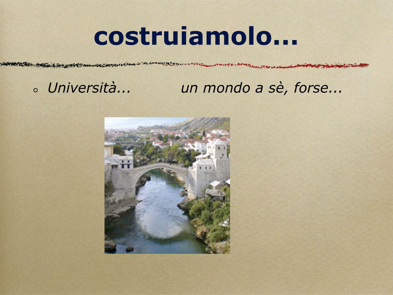 costruiamolo... Università... un mondo a sè, forse... professione, l'isola che non c'è....