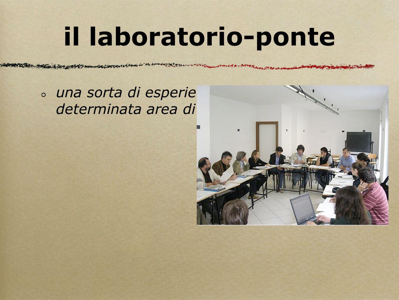 il laboratorio-ponte una sorta di esperienza di gruppo su una determinata area di applicazione psi