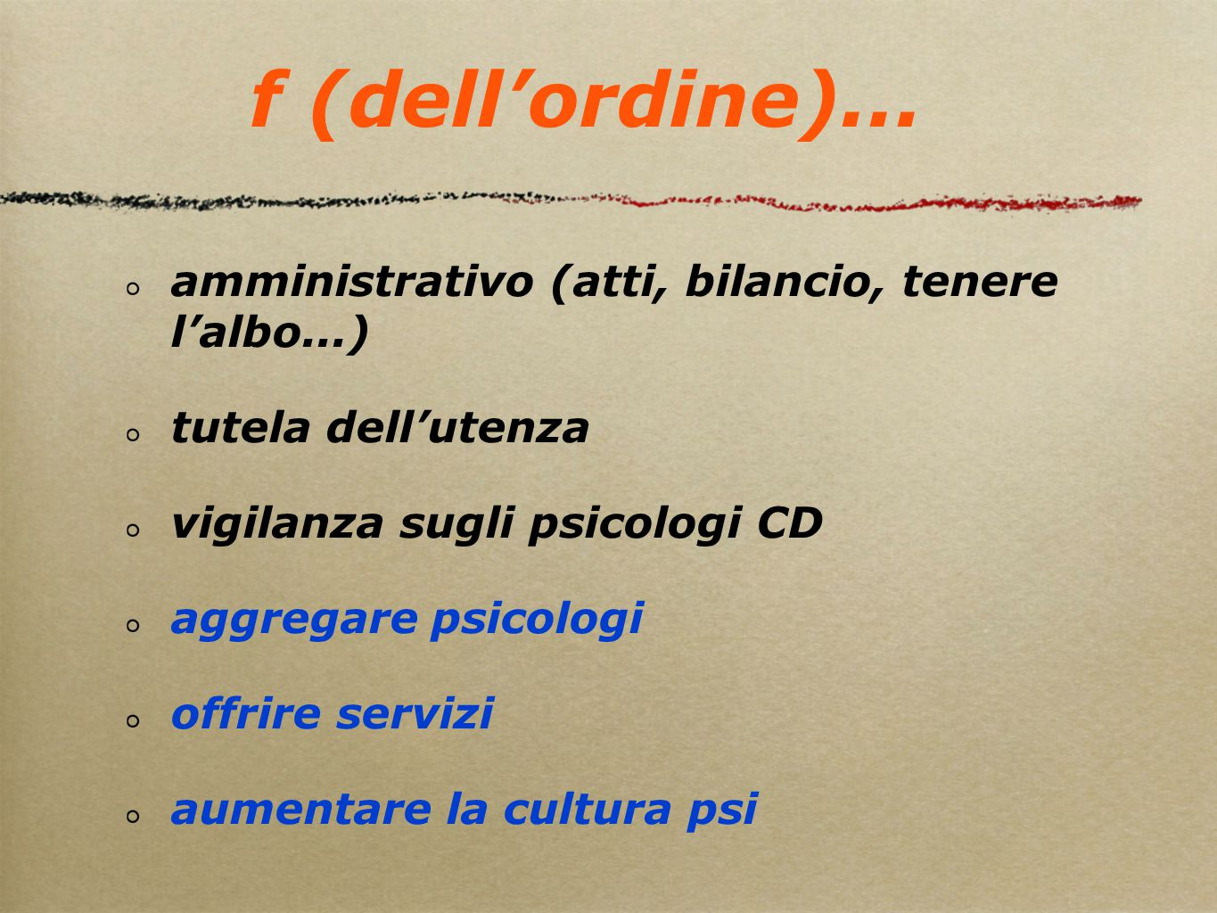 f (dell'ordine)...