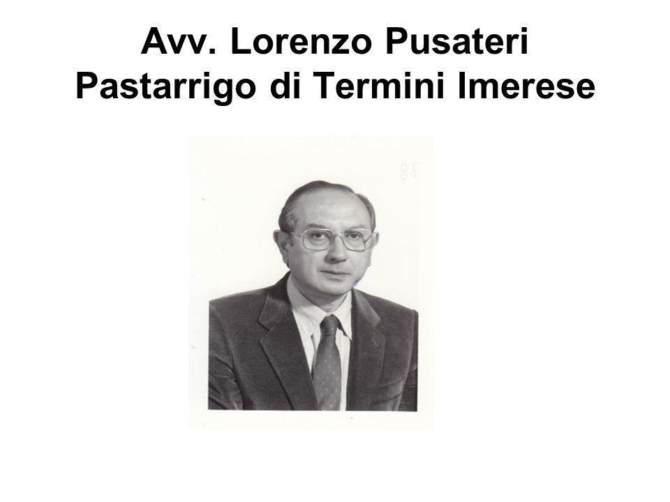 Avv. Lorenzo Pusateri Pastarrigo di Termini Imerese