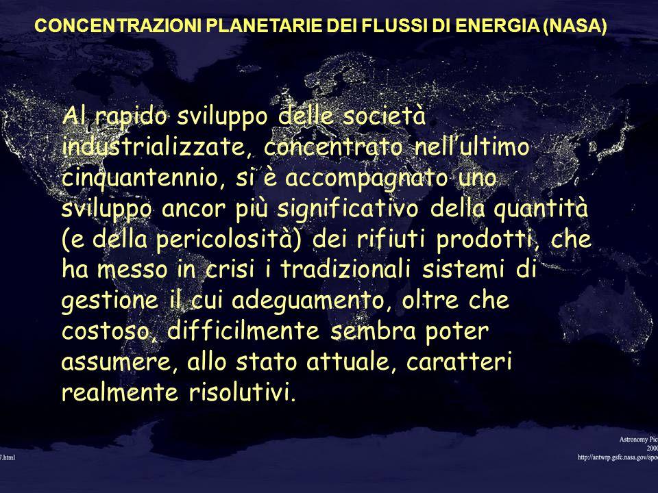 17 CRESCE PIÙ DI UN ESPONENZIALE CRESCE PIÙ DI UN ESPONENZIALE LA DENSITA' ABITATIVA CONCENTRAZIONI PLANETARIE DEI FLUSSI DI ENERGIA (NASA) Al rapido