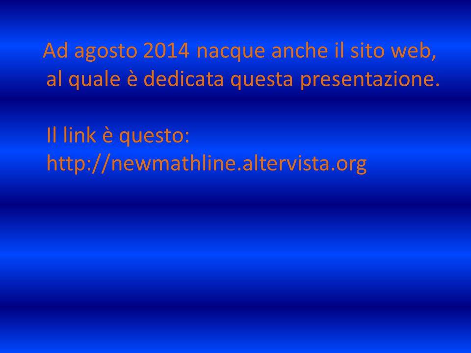 Ad agosto 2014 nacque anche il sito web, al quale è dedicata questa presentazione.