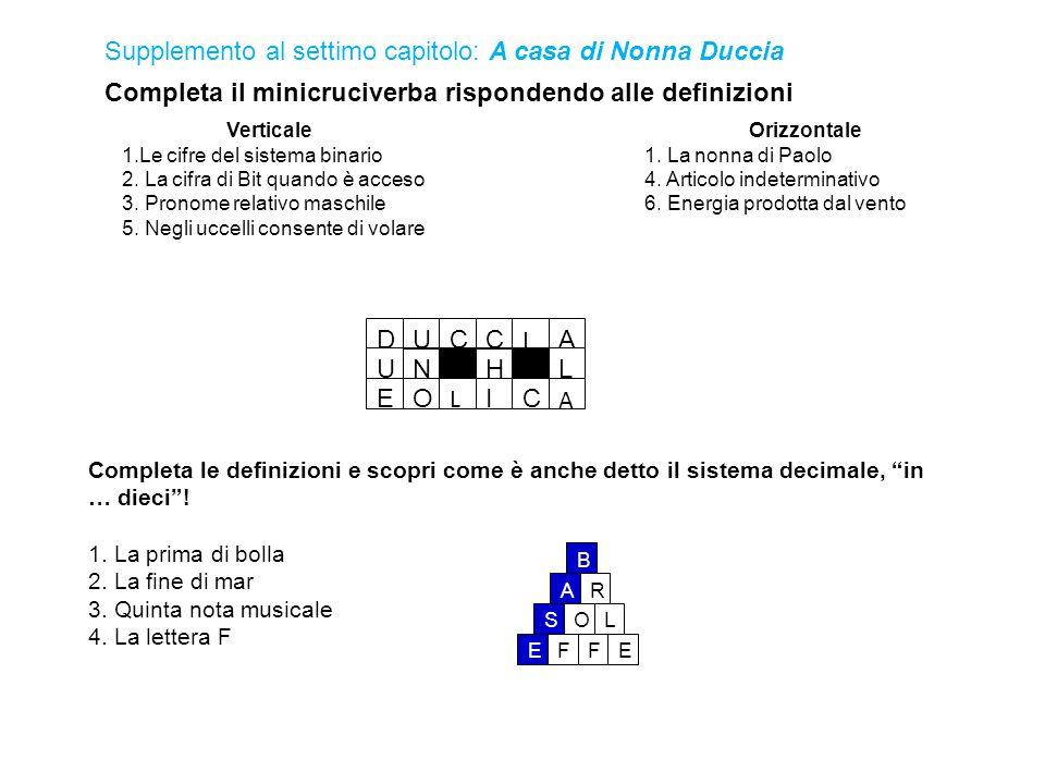 Completa il minicruciverba rispondendo alle definizioni Completa le definizioni e scopri come è anche detto il sistema decimale, in … dieci .