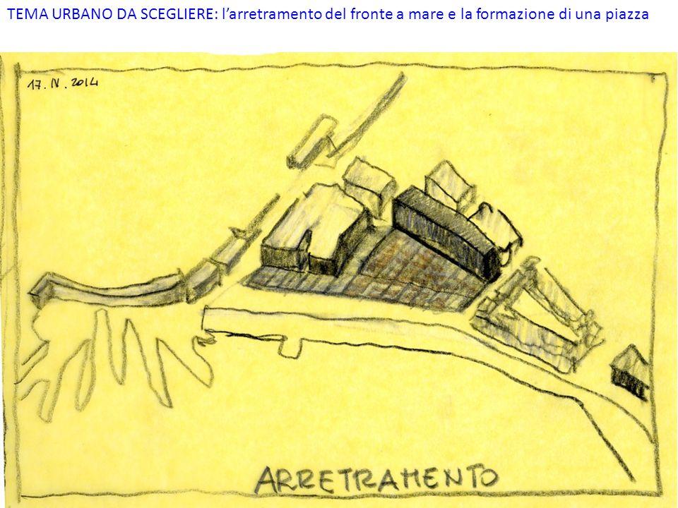 TEMA URBANO DA SCEGLIERE: l'arretramento del fronte a mare e la formazione di una piazza