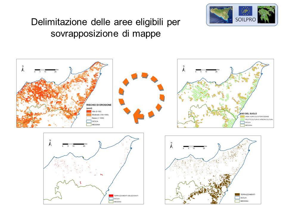 Delimitazione delle aree eligibili per sovrapposizione di mappe