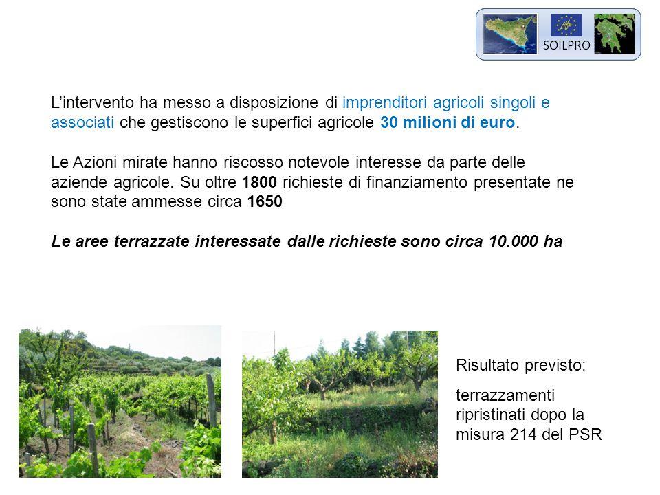 L'intervento ha messo a disposizione di imprenditori agricoli singoli e associati che gestiscono le superfici agricole 30 milioni di euro.