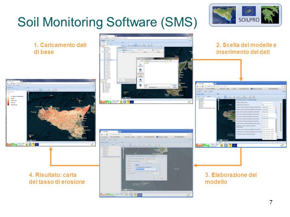 8 Soil Monitoring Software (SMS) 4.Carta del tasso di erosione 5.