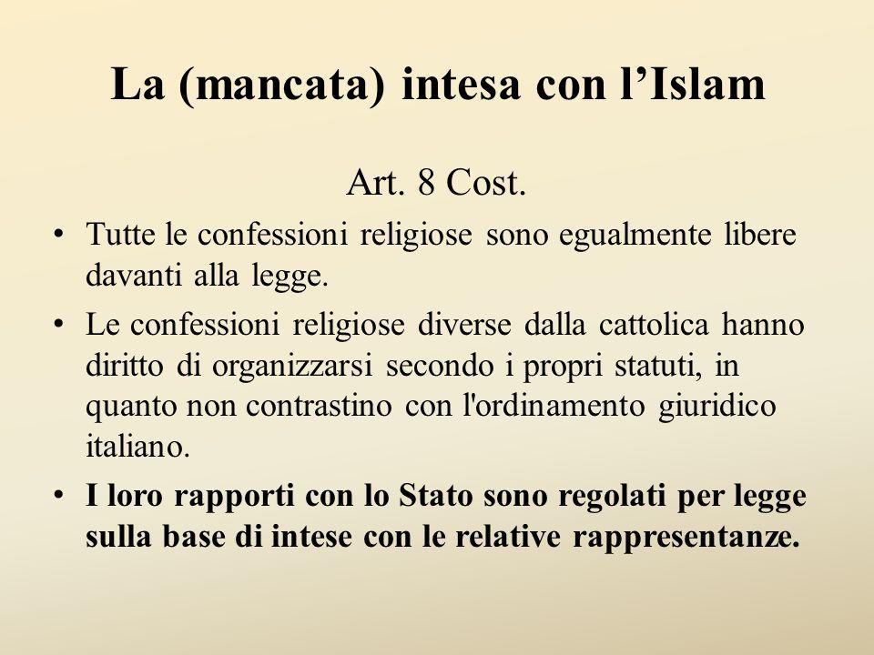 La (mancata) intesa con l'Islam Art.8 Cost.