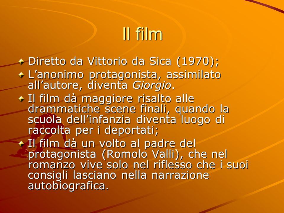 Il film Diretto da Vittorio da Sica (1970); L'anonimo protagonista, assimilato all'autore, diventa Giorgio.