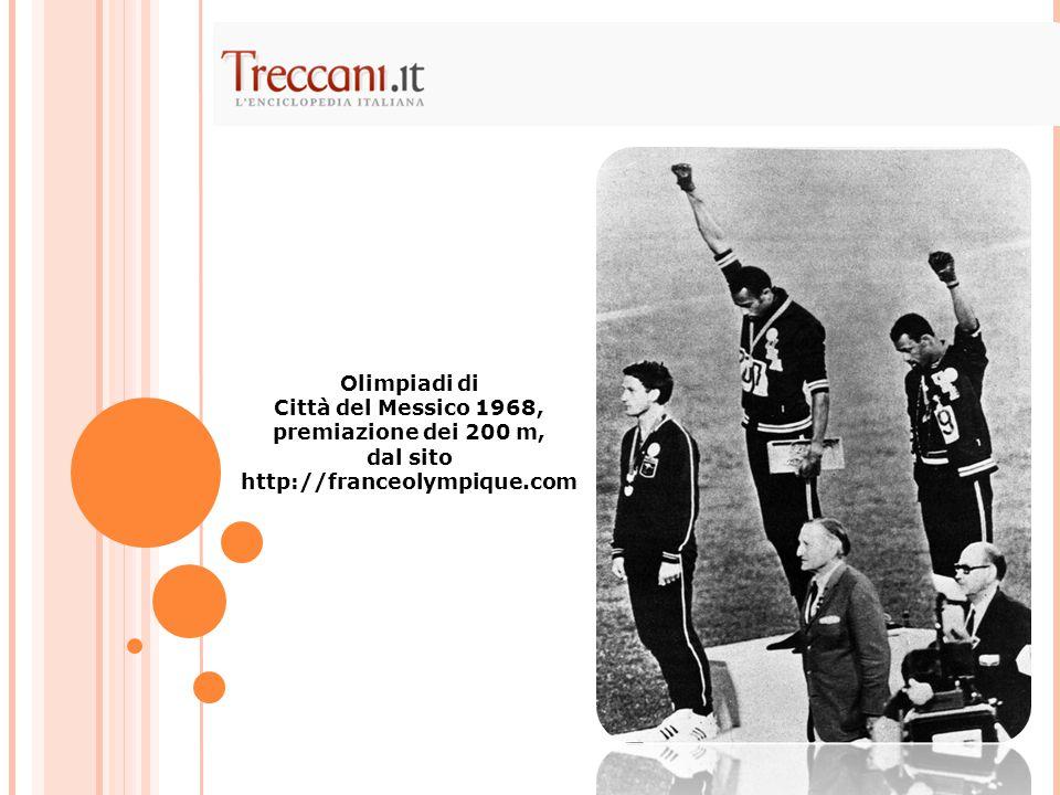 Olimpiadi di Città del Messico 1968, premiazione dei 200 m, dal sito http://franceolympique.com