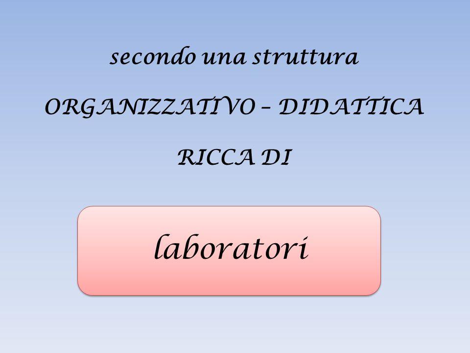secondo una struttura ORGANIZZATIVO – DIDATTICA RICCA DI laboratori