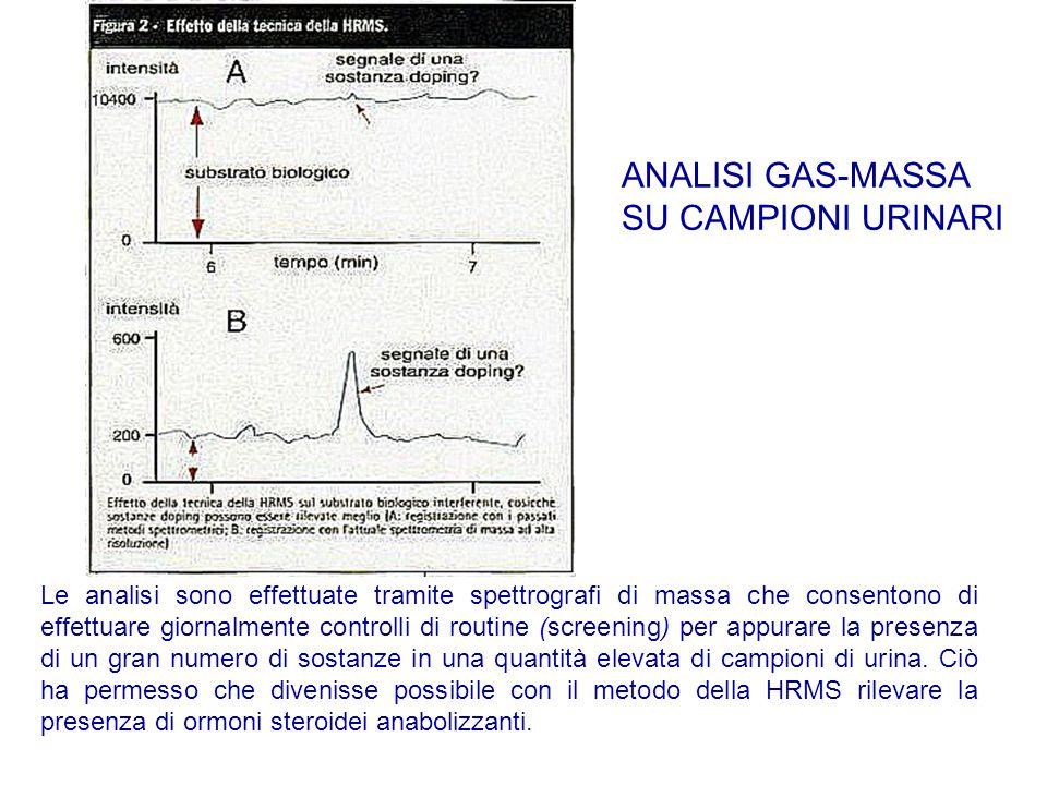 Le analisi sono effettuate tramite spettrografi di massa che consentono di effettuare giornalmente controlli di routine (screening) per appurare la pr