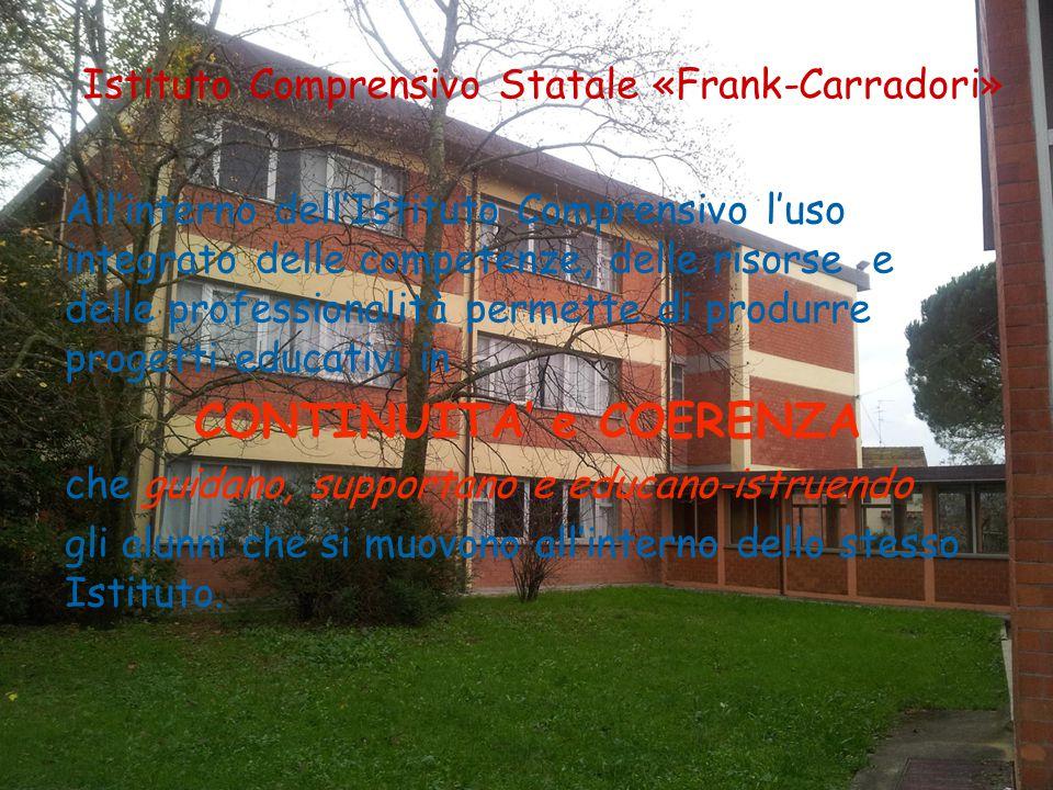 Istituto Comprensivo Statale «Frank-Carradori» All'interno dell'Istituto Comprensivo l'uso integrato delle competenze, delle risorse e delle professio