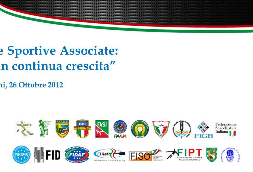 Le Discipline Sportive Associate: un mondo in continua crescita Rimini, 26 Ottobre 2012