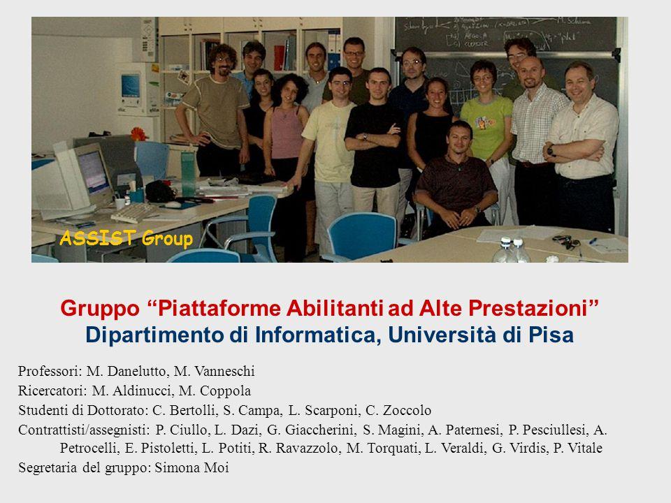 Gruppo Piattaforme Abilitanti ad Alte Prestazioni Dipartimento di Informatica, Università di Pisa ASSIST Group Professori: M.