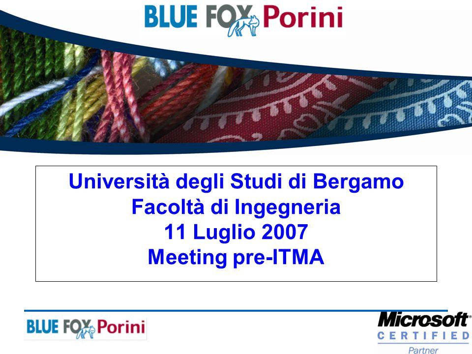 Principali novità BLUE FOX Porini per ITMA 2007 Relatore: Giuseppe Ghisoni