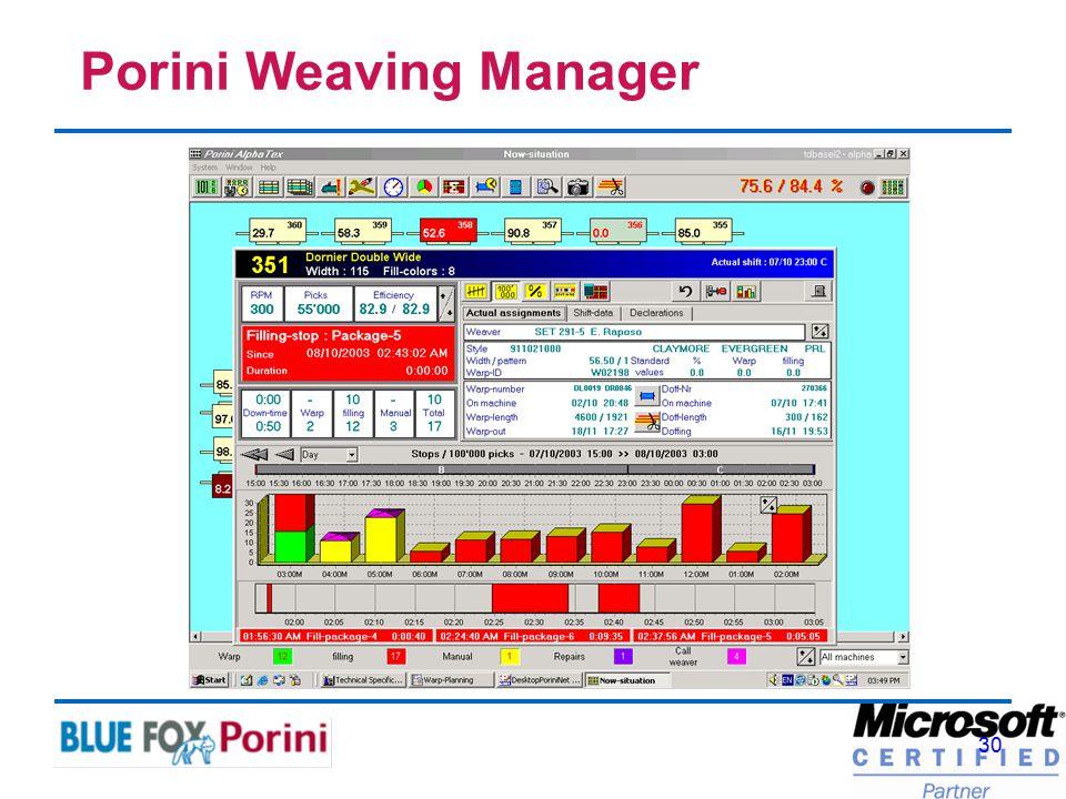 30 Porini Weaving Manager