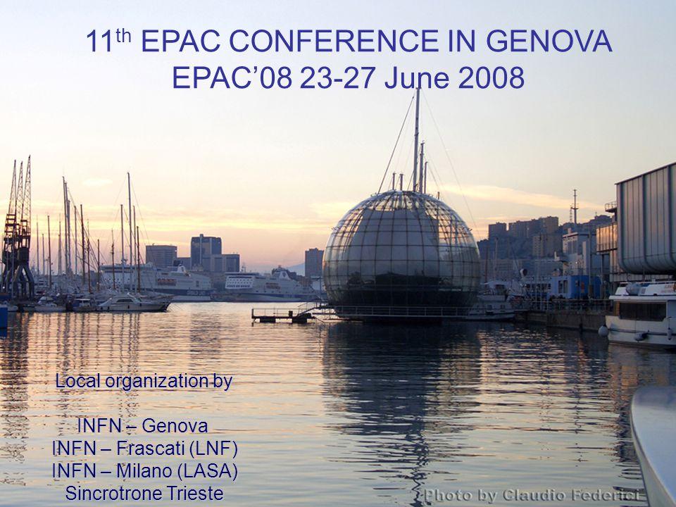 EPAC'08 Conference venue: Magazzini del Cotone in the Porto Antico