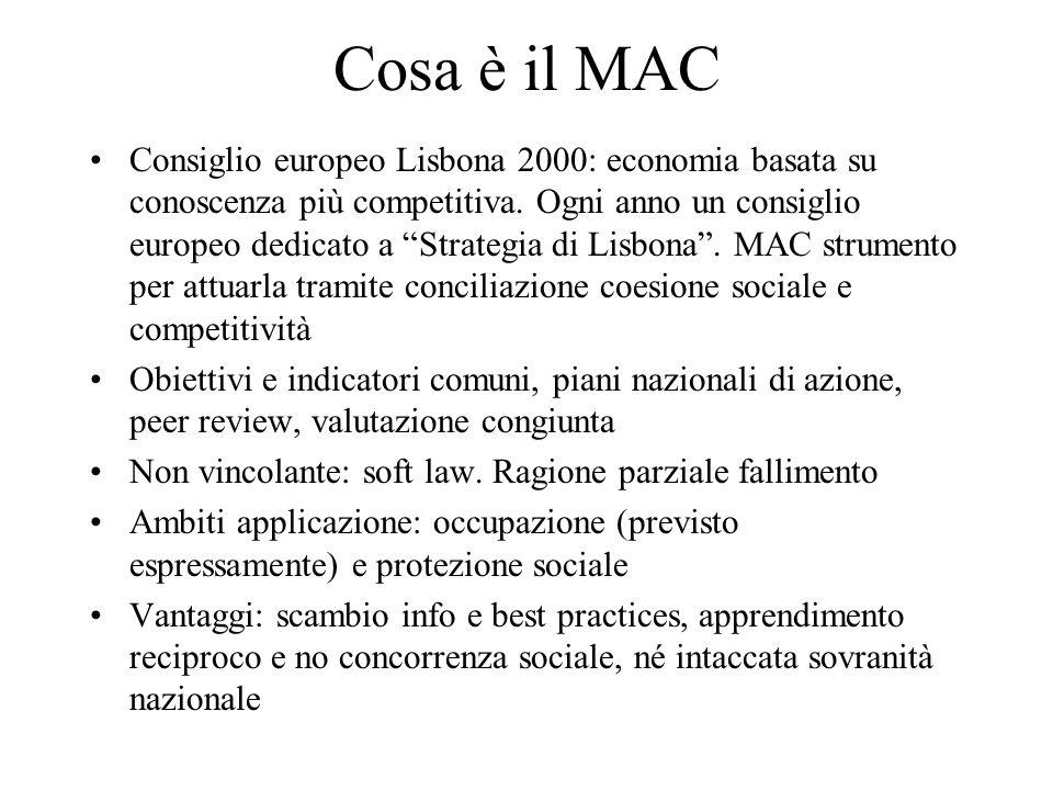 """Cosa è il MAC Consiglio europeo Lisbona 2000: economia basata su conoscenza più competitiva. Ogni anno un consiglio europeo dedicato a """"Strategia di L"""