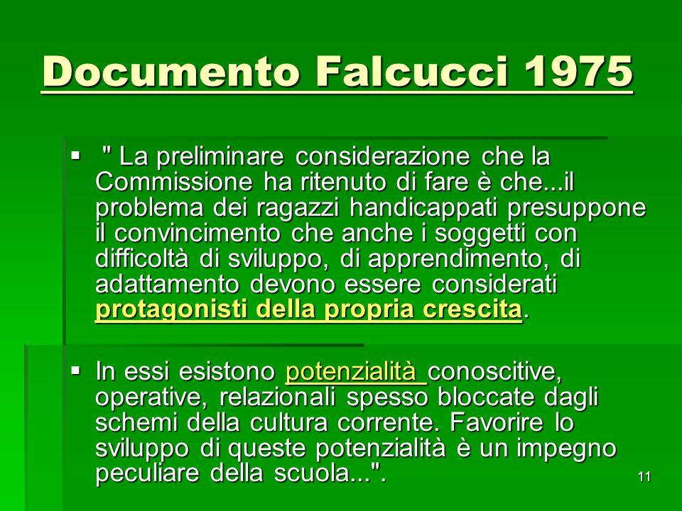 Documento Falcucci 1975 