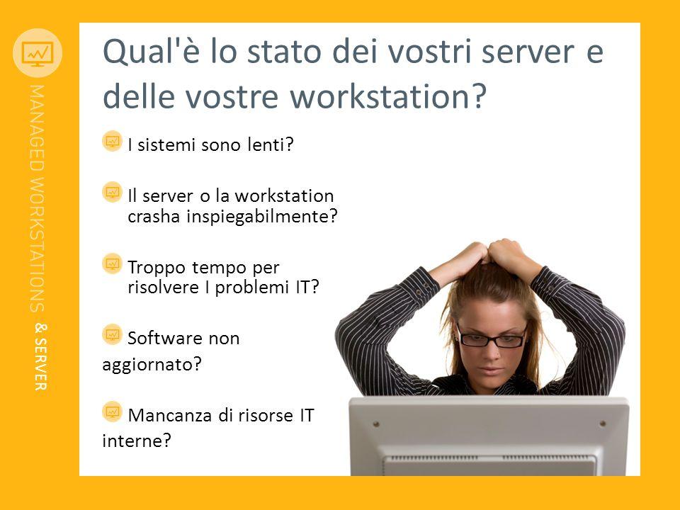 Qual'è lo stato dei vostri server e delle vostre workstation? I sistemi sono lenti? Il server o la workstation crasha inspiegabilmente? Troppo tempo p