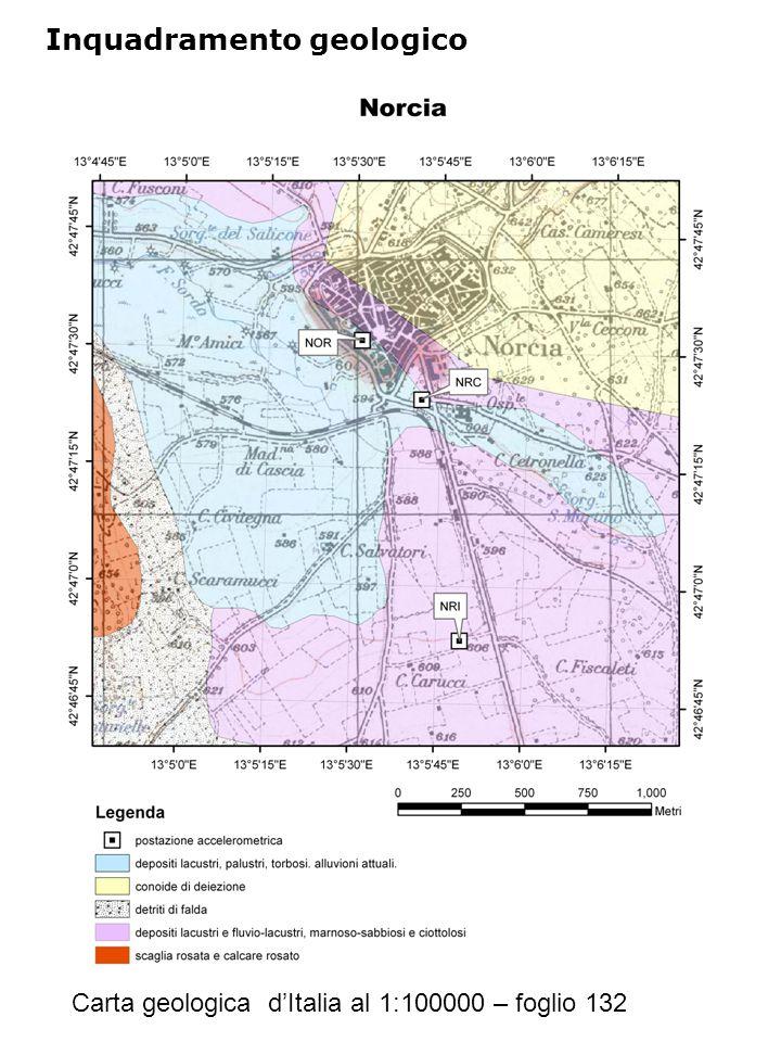 Inquadramento geologico Carta geologica d'Italia al 1:100000 – foglio 132
