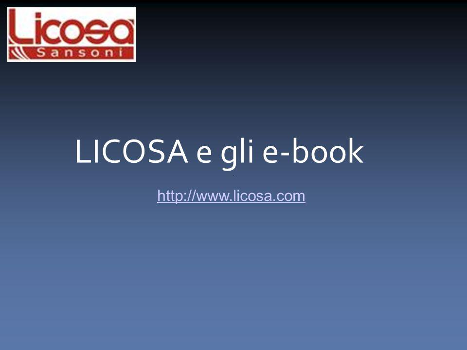 LICOSA e gli e-book http://www.licosa.com