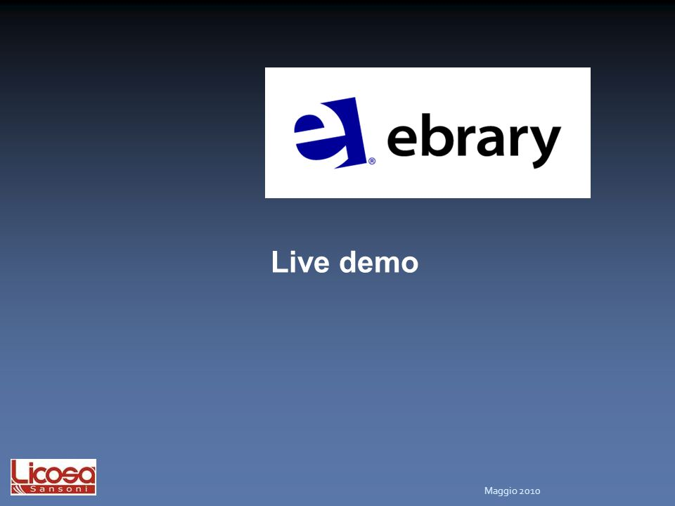 Ebook: Live demo
