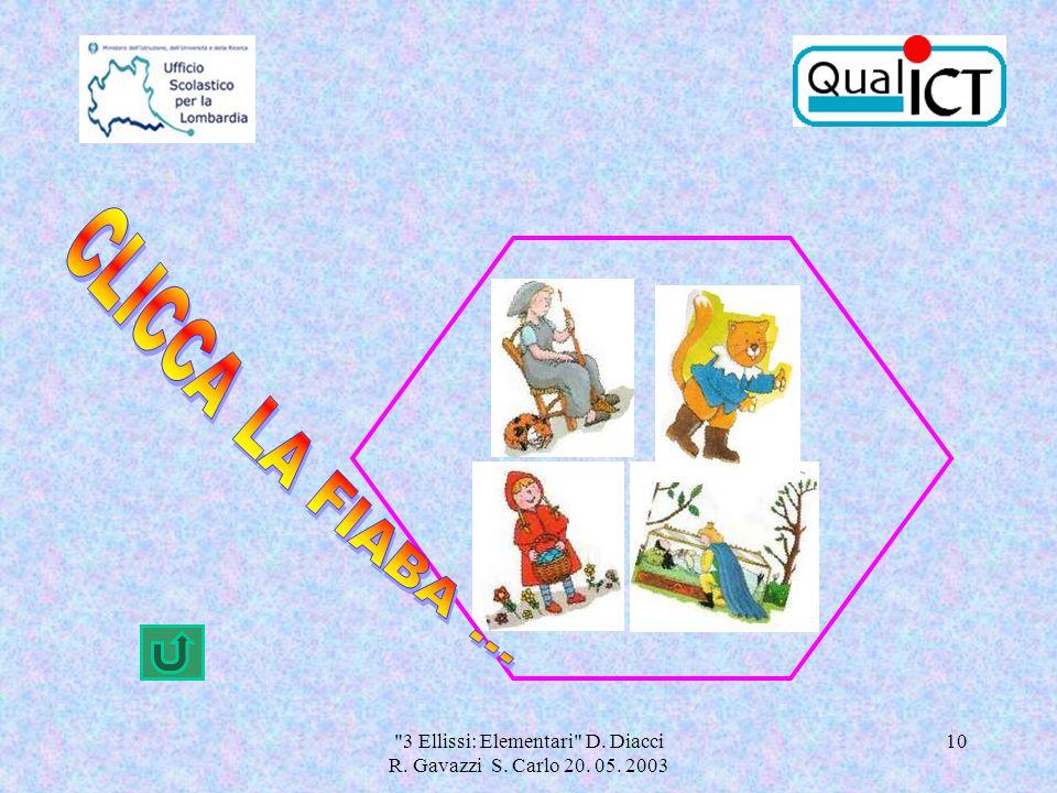 3 Ellissi: Elementari D. Diacci R. Gavazzi S. Carlo 20. 05. 2003 10
