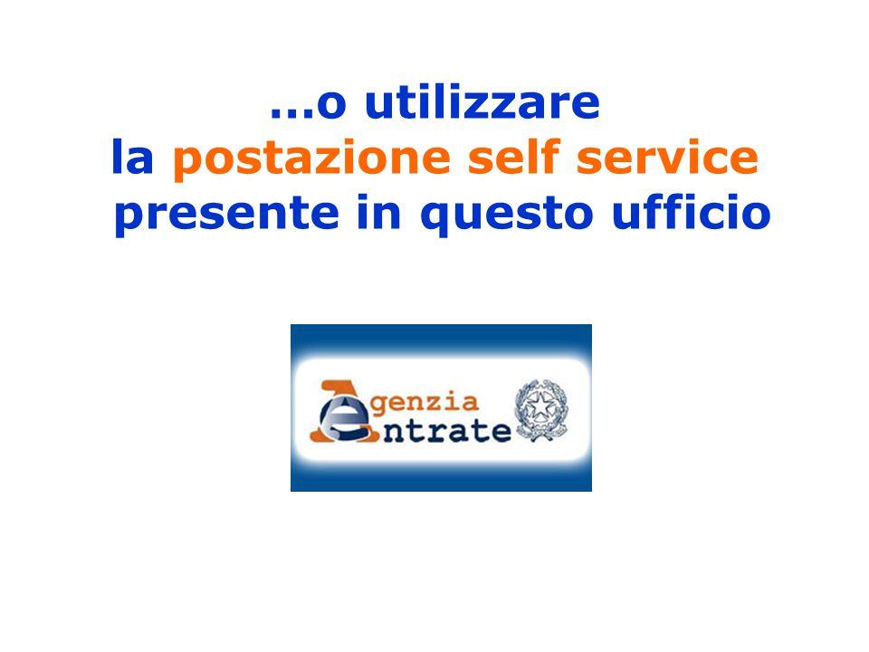 …o utilizzare la postazione self service presente in questo ufficio