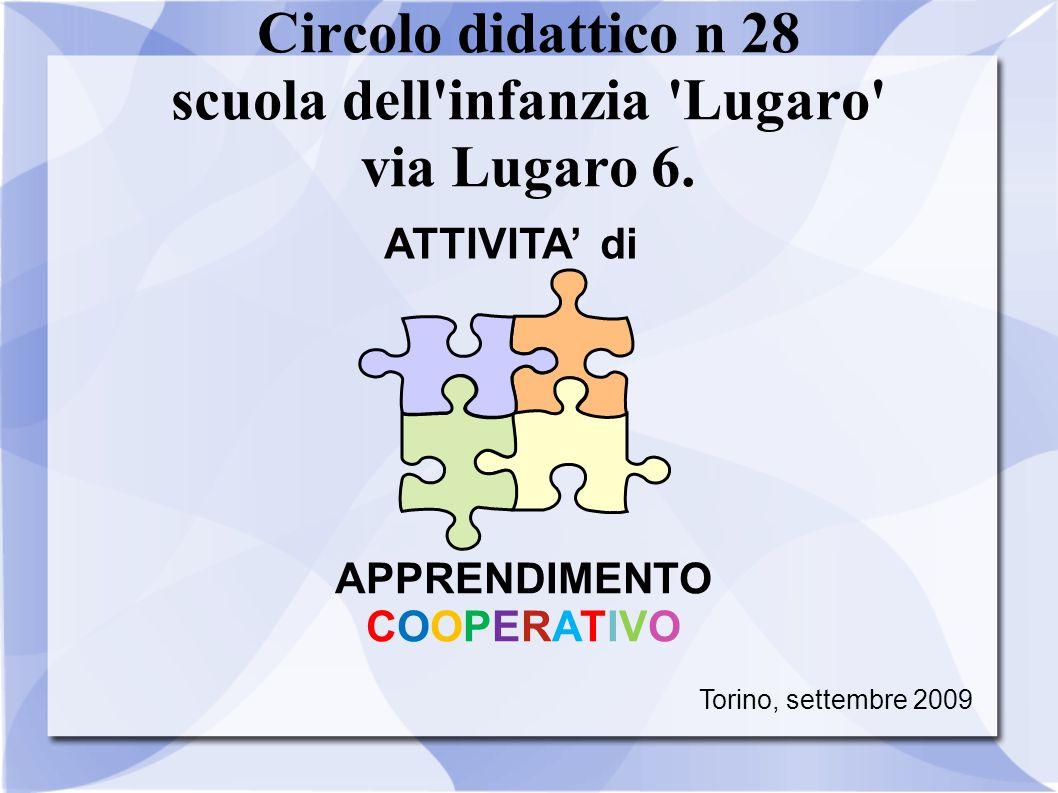 Circolo didattico n 28 scuola dell'infanzia 'Lugaro' via Lugaro 6. ATTIVITA' di APPRENDIMENTO COOPERATIVO Torino, settembre 2009