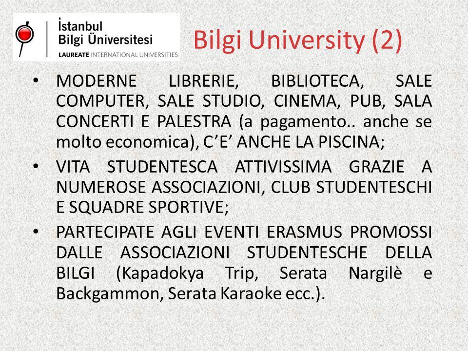 MODERNE LIBRERIE, BIBLIOTECA, SALE COMPUTER, SALE STUDIO, CINEMA, PUB, SALA CONCERTI E PALESTRA (a pagamento..