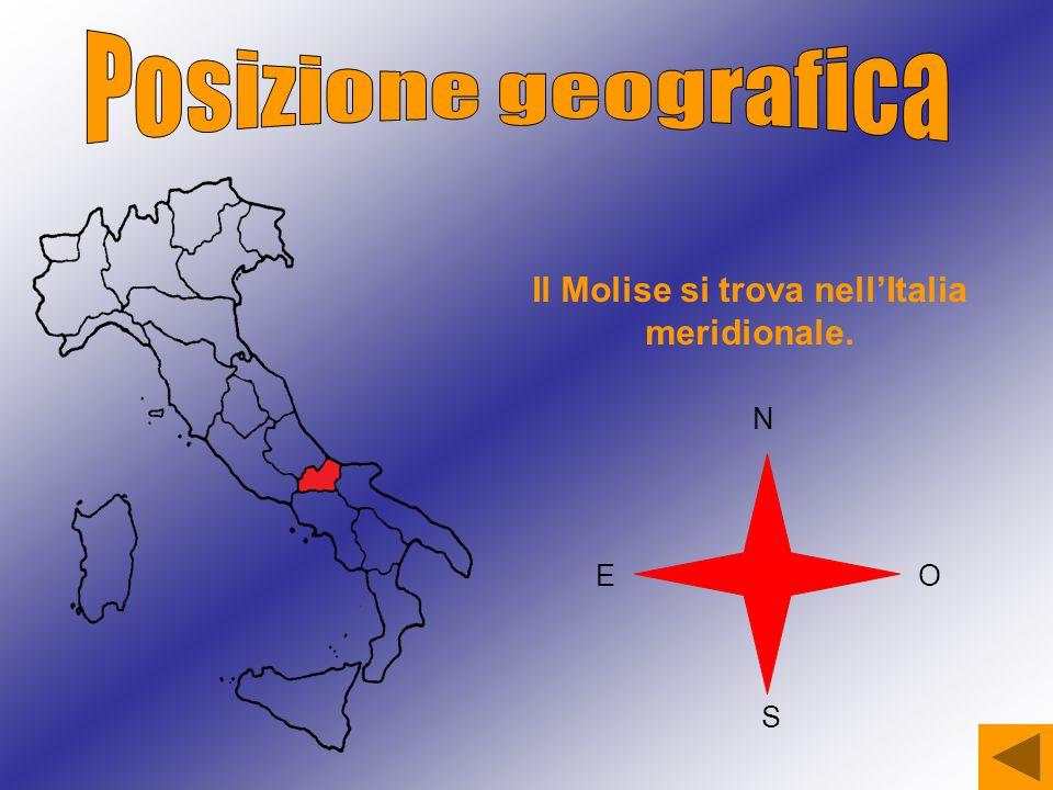Il Molise si trova nell'Italia meridionale. N S OE