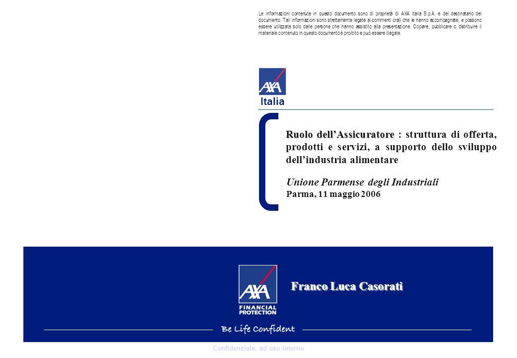 0 Confidenziale, ad uso interno Italia Le informazioni contenute in questo documento sono di proprietà di AXA Italia S.p.A.