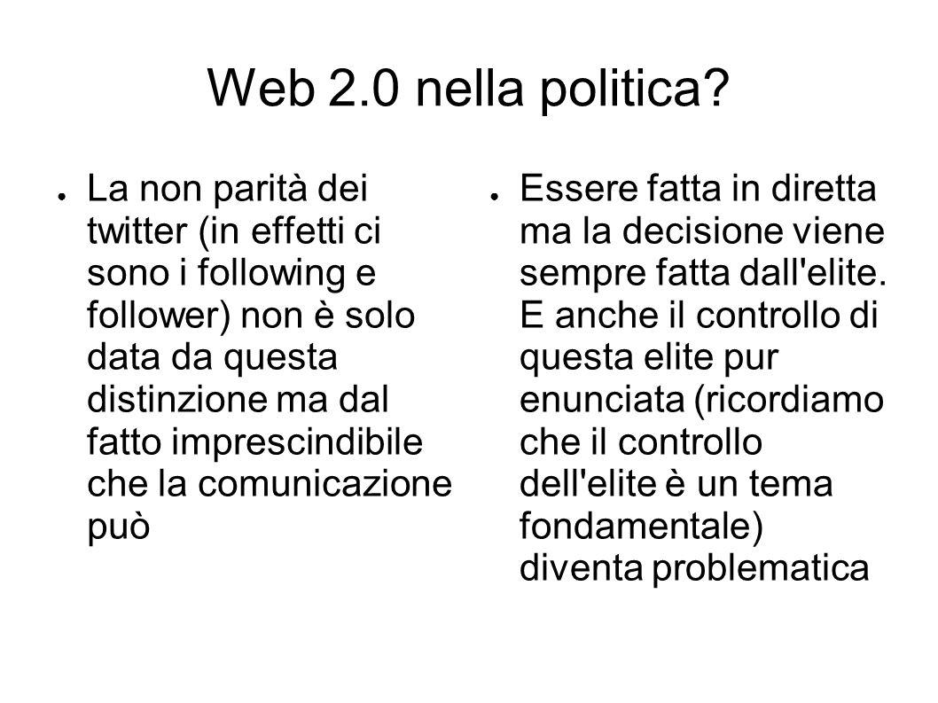 Web 2.0 nella politica.