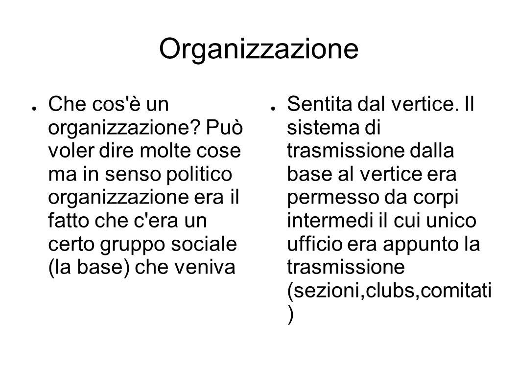 Organizzazione ● Che cos è un organizzazione.
