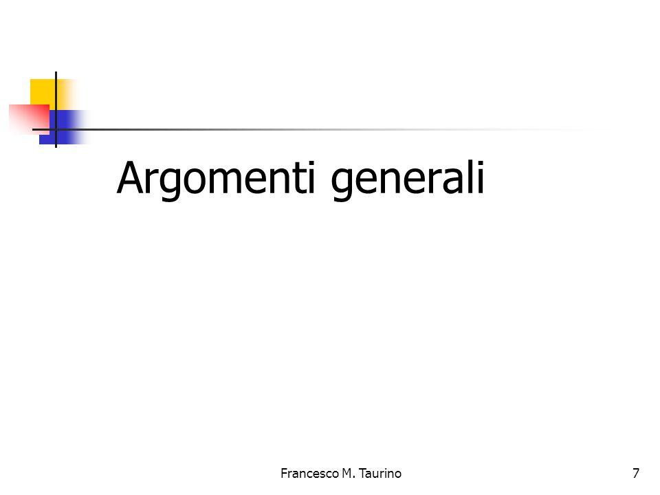 7 Argomenti generali