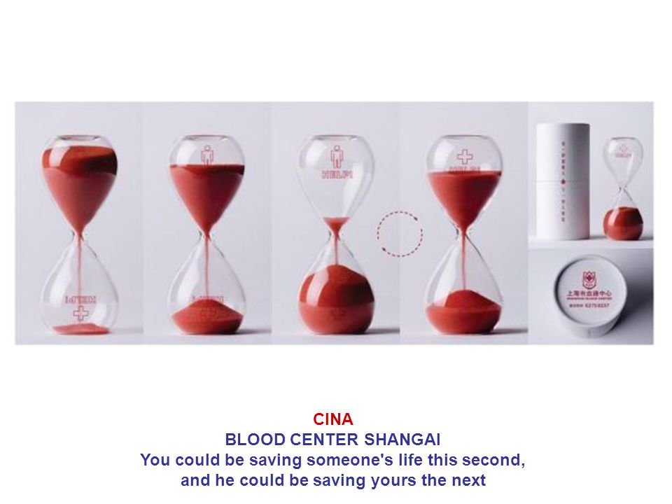 CINA BLOOD CENTER SHANGAI You could be saving someone's life this second, and he could be saving yours the next