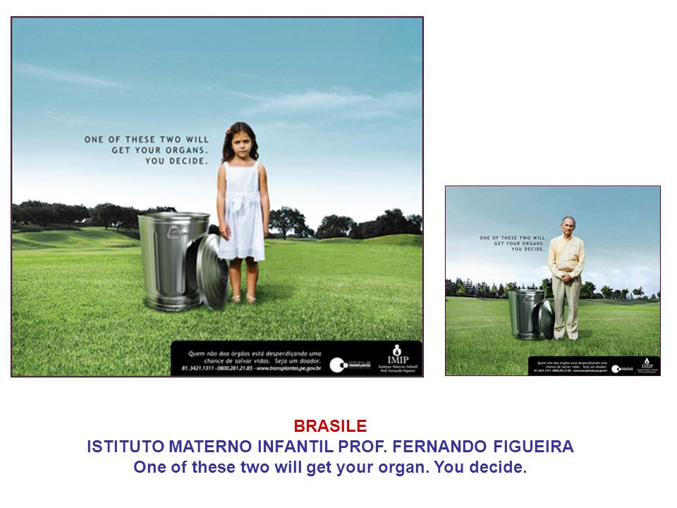 BRASILE ISTITUTO MATERNO INFANTIL PROF. FERNANDO FIGUEIRA One of these two will get your organ. You decide.