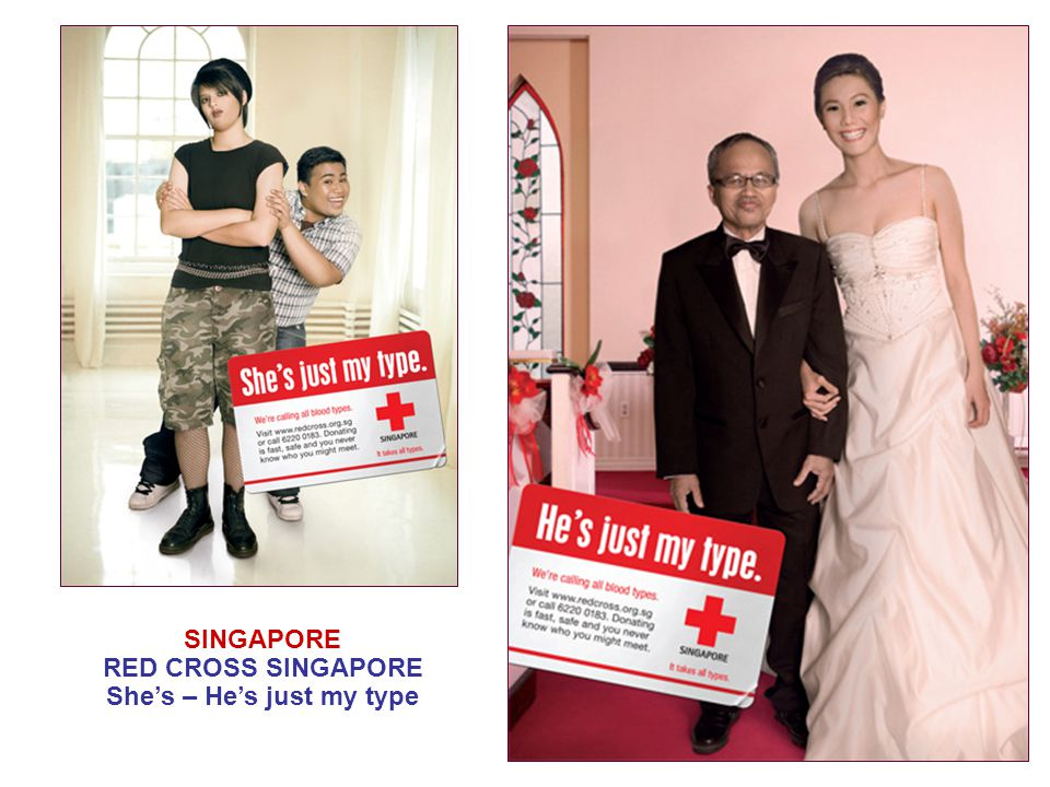 SINGAPORE RED CROSS SINGAPORE She's – He's just my type