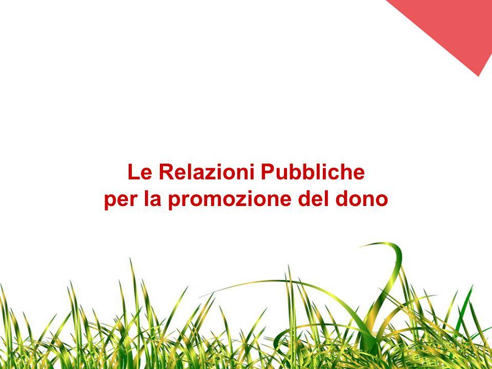 Le Relazioni Pubbliche per la promozione del dono