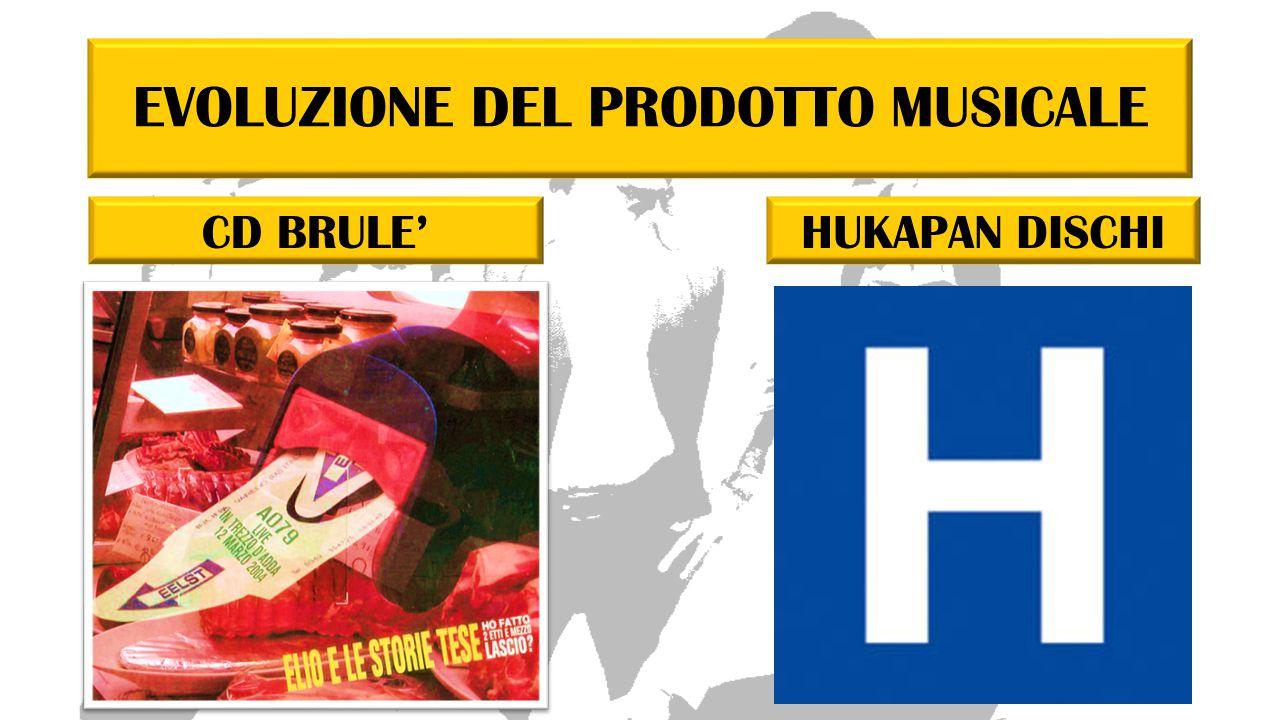 EVOLUZIONE DEL PRODOTTO MUSICALE CD BRULE'HUKAPAN DISCHI